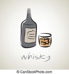 illustration sketch symbol of whisk