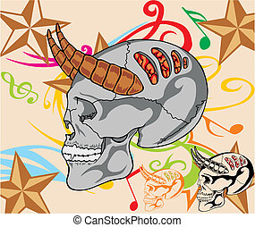 Illustration skull design