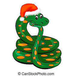 snake in holiday new - illustration snake in holiday new...