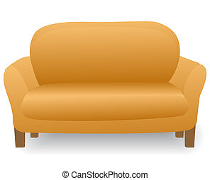 comfortable home modern sofa - illustration soft and...