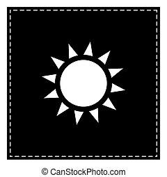 illustration., sol, isolado, remendo, experiência., pretas, branca, sinal
