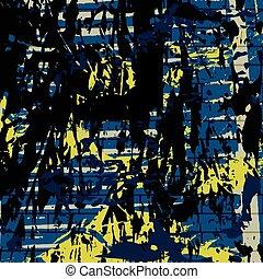 illustration, sombre, vecteur, arrière-plan noir, graffiti