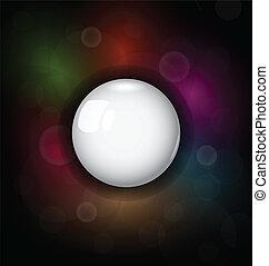 speech bubble on dark background