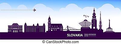 illustration., spielraum- bestimmungsort, vektor, slowakei,...