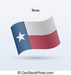 illustration., staat, form., winken markierung, vektor, texas