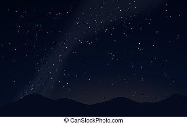 illustration, stars., vecteur, voie lactée