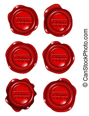 red wax seal collections - illustration stock of red wax...