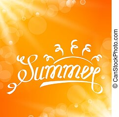 Summer Abstract Banner with Text Lettering