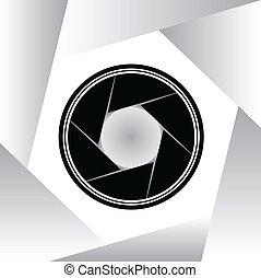 illustration, symbole, vecteur, appareil photo