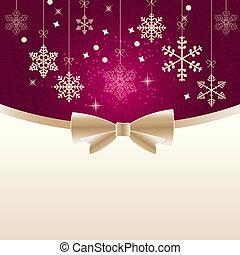 illustration., szépség, elvont, háttér., vektor, év, új, karácsony