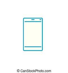 illustration., tableta, señal, concept., símbolo, buque insignia, vector, línea, icono, lineal