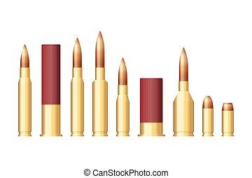 illustration, tailles, différent, vecteur, ensemble, balles