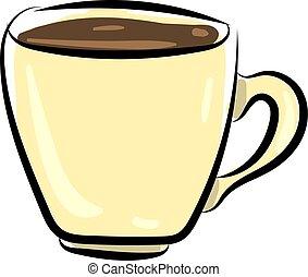 illustration, tasse blanche, vecteur, arrière-plan., café