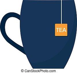 illustration., tasse, thé, time., vecteur, tea.