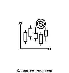illustration., technisch, concept., analyse, symbool, meldingsbord, vector, lijn, pictogram, lineair