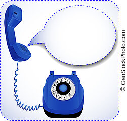 telephone with raised tube for messages - illustration...