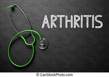 illustration., testo, artrite, -, chalkboard., 3d