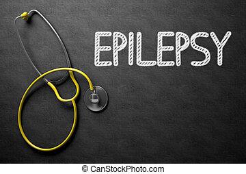 illustration., testo, epilessia, -, chalkboard., 3d