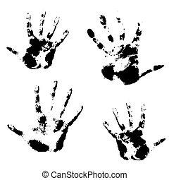 illustration., textura, mão, vetorial, padrão, pele, impressão