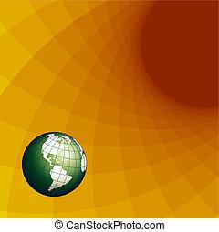 texture globe - Illustration, texture globe on netlike...