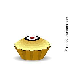 Illustration the cute cupcake