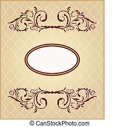 Illustration the floral vintage frame