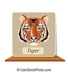 illustration. tiger