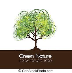 illustration, träd