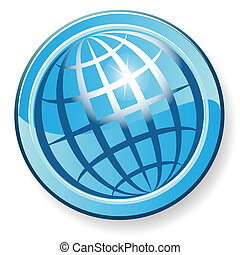 globe - Illustration, transparent blue globe on white ...