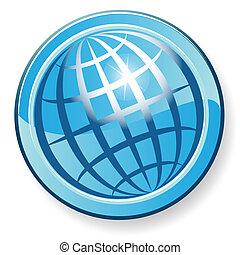 globe - Illustration, transparent blue globe on white...