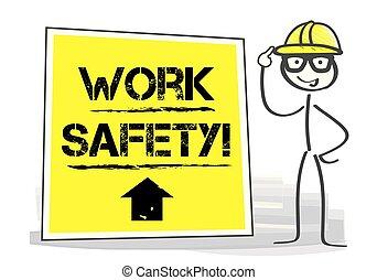 illustration., travail, -, vecteur, santé, sécurité