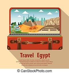 illustration. travel around egypt.