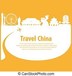 illustration. travel around Republic of China.