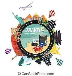 illustration travel the world