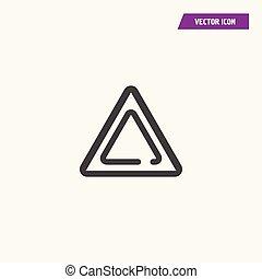 illustration, triangle, isolé, vector., icône