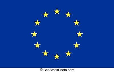 illustration., ufficiale, proporzione, colori, bandiera, vettore, correttamente, europeo