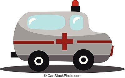 illustration., urgence, couleur, voiture, image, -, vecteur, ambulance, ou
