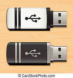 Illustration USB flash drives