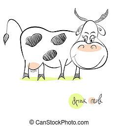 illustration, vache