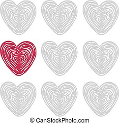 illustration, valentin, s, vecteur, ard, jour, heureux