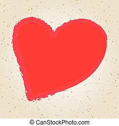 illustration, valentine, dessin, jour, main