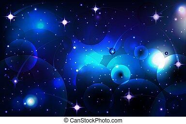 illustration, vecteur, bleu, étoiles, fond