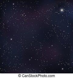 illustration., vecteur, ciel, étoilé, nuit, sky., arrière-plan., étoiles