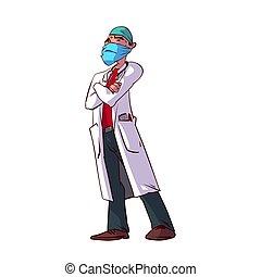 illustration, vecteur, coloré, docteur