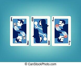 illustration., vecteur, concept affaires, card.