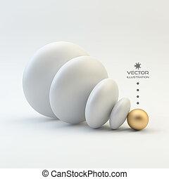 illustration., vecteur, concept, business