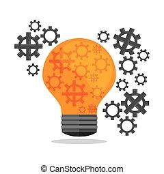 illustration, vecteur, conception, entrepreneur