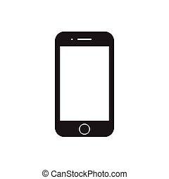 illustration., vecteur, design., icon., mobile, plat, smartphone