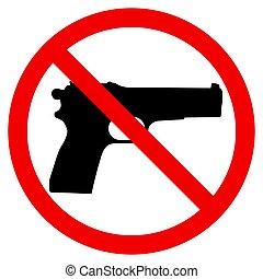 illustration, vecteur, fusil, prohibition, signe