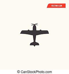 illustration, vecteur, isolé, avion, icône